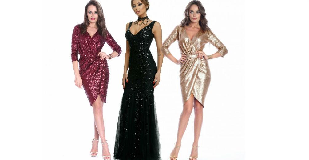 Rochii paiete! Modele de rochii cu paiete lungi si scurte online!