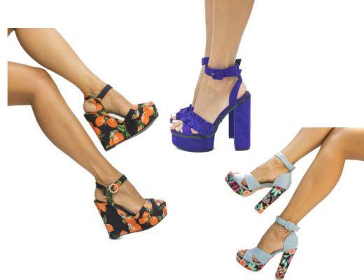 Sandale platforma moderne! Modele variate de sandale platforma online!