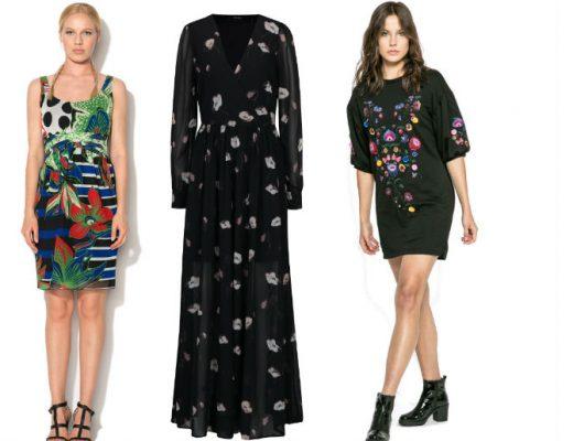 Rochii cu imprimeu floral! Modele variate de rochii cu imprimeu floral lungi si scurte online!