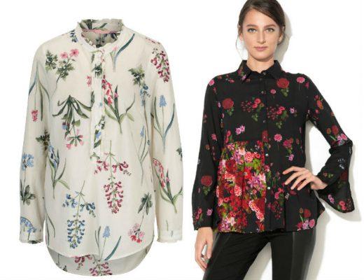 Camasi de dama cu imprimeu floral! Modele de camasi de dama elegante!