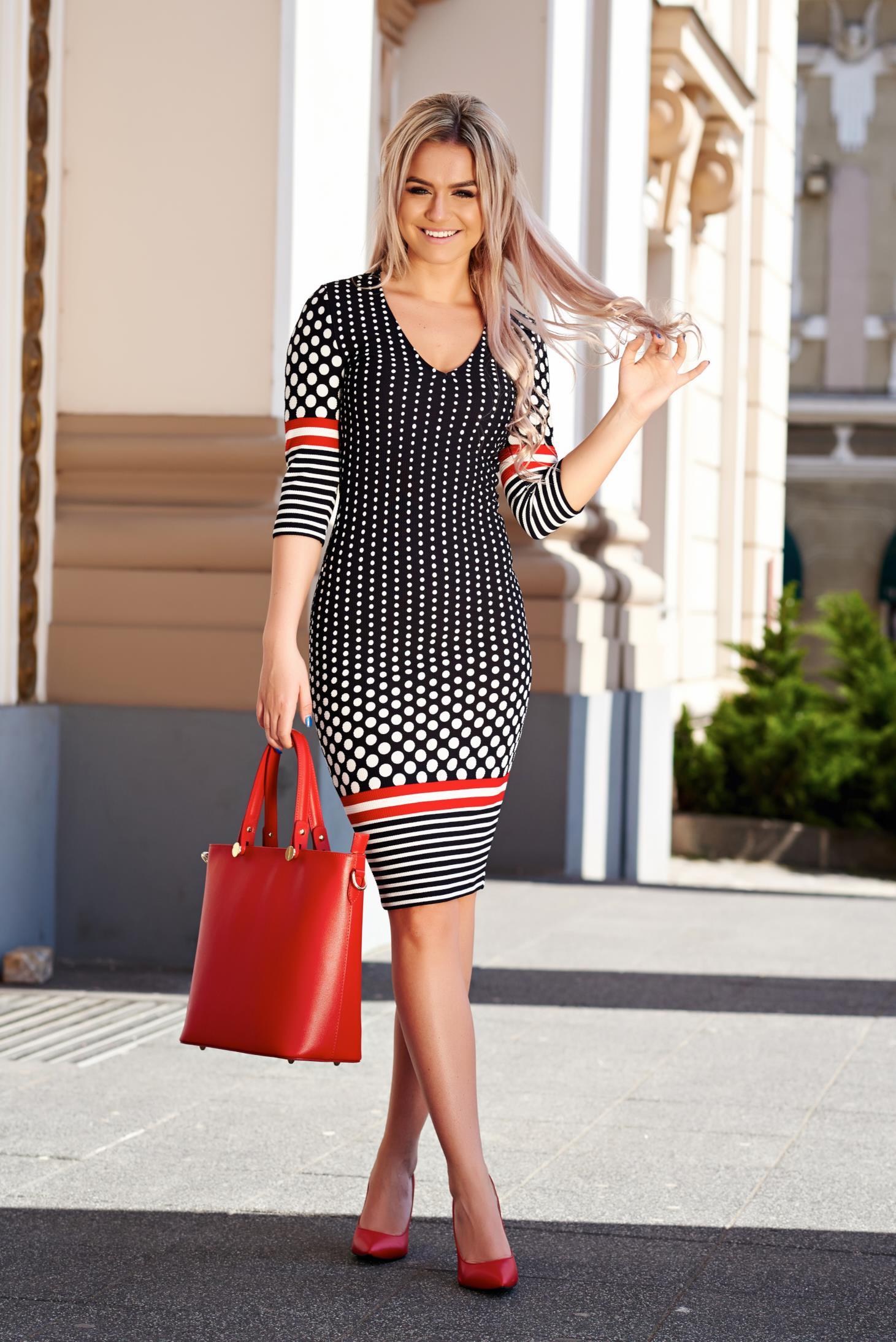 Rochii cu buline! Modele variate de rochii cu buline lungi si scurte online