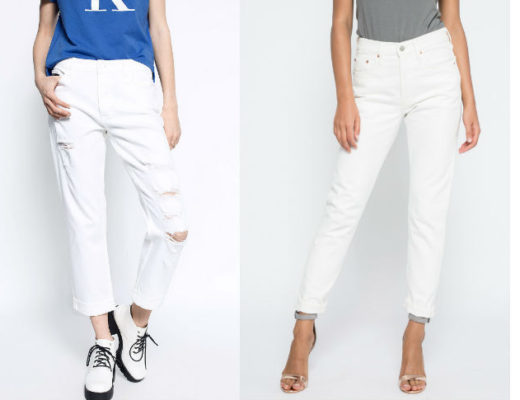 Blugi albi dama! Modele variate de blugi dama albi online!