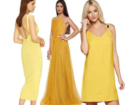 Rochii galbene! Modele variate de rochii galbene lungi si scurte!