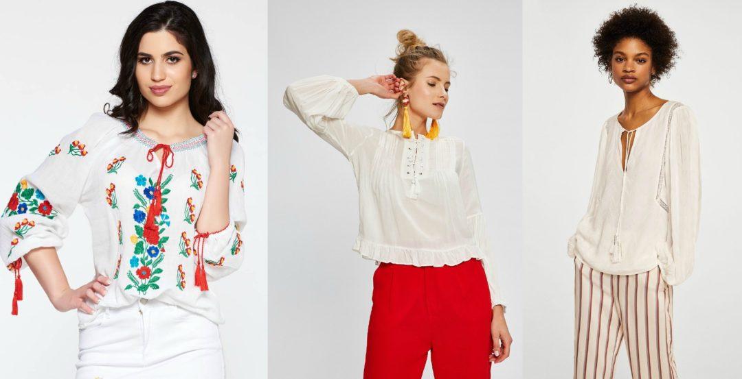 Ie dama! Modele variate de bluze tip Ie traditionala de dama online!